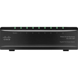 Cisco SG200-08 Gigabit Smart Switch - 8 x Gigabit Ethernet Network - Manageable - 2 Layer Supported - Desktop, Wall M (SLM2008T-NA)