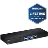 TRENDnet TEG-S16g Unmanaged Ethernet Switch - 16 x Gigabit Ethernet Network - Twisted Pair - 2 Layer Supported - Rack (TEG-S16G)