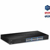 TRENDnet TEG-S24g Unmanaged Ethernet Switch - 24 x Gigabit Ethernet Network - 2 Layer Supported - Rack-mountable - Li (TEG-S24G)