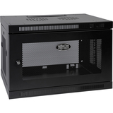 Tripp Lite 9U Wall Mount Rack Enclosure Server Cabinet w/ Door & Side Panels - 19IN 9U Wide Wall Mountable - Black - (SRW9U)