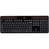 Logitech K750 Keyboard - Wireless Connectivity - RF - USB Interface - French - Compatible with Computer (PC) - Black (920-002914)