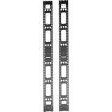 Tripp Lite 42U Rack Enclosure Server Cabinet Vertical Cable Management Bars - 2 Pack - 42U Rack Height (SRVRTBAR)