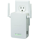 Netgear WN3000RP IEEE 802.11n 54 Mbit/s Wireless Range Extender - ISM Band - 1 x Network (RJ-45) - Wall Mountable (WN3000RP-100NAS)
