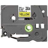 Brother TZE-FX651 Black on yellow Flexible Label Tape