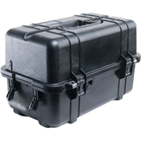 """Pelican 1460 Shipping Case with Foam - Internal Dimensions: 18.54"""" Length x 9.92"""" Width x 10.92"""" Depth - External Dimensions: 20.9"""" Length x 12.7"""" Width x 12.8"""" Depth - 8.68 gal - Double Throw Latch Closure - Copolymer - Black - For Equipment"""