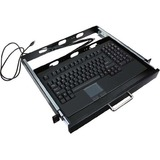 Adesso ACK-730PB-MRP 1U Rackmount Keyboard with Touchpad - PS/2 - QWERTY - 104 Keys - Black (ACK-730PB-MRP)