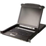 Aten Rack Mount LCD - 16 Computer(s) - 19IN LCD - 1280 x 1024 - 1 x USB - Daisy Chain - Keyboard - TouchPad (CL5716N)
