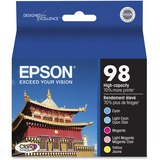 Epson Claria T098920 Original Ink Cartridge - Cyan, Magenta, Yellow, Light Cyan, Light Magenta - Inkjet - 5 / Pack (T098920-S)