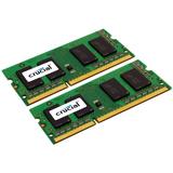 Crucial 8GB DDR3 SDRAM Memory Module - 8 GB (2 x 4 GB) - DDR3 SDRAM - 1600 MHz DDR3-1600/PC3-12800 - 1.35 V - Non-ECC - Unbuffered - 204-pin - SoDIMM