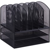 Lorell Steel Horiz/Vertical Mesh Desk Organizer