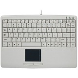 Adesso SlimTouch AKB-410UW Keyboard - Cable Connectivity - USB Interface - 88 Key - English (US) - TouchPad - Compati (AKB-410UW)