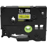 Brother HGES6215PK Black on Yellow Extra-Strength Adhesive Label Tape