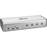 Tripp Lite 4-Port Desktop Compact DVI/USB KVM Switch w/ Audio & Cables - 4 Computer(s) - 2048 x 1536 - 10 x USB - 5 x (B004-DUA4-K-R)