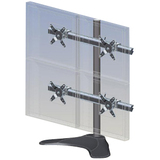 """Ergotech Monitor Stand - Up to 21"""" Screen Support - 25 lb Load Capacity - Desktop - Black"""