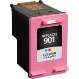 V7 Tri-Color Inkjet Cartridge for HP Officejet J4525, J4535, J4540, J4550, J4580, J4585, J4660, J4680, J4680c (HP 901) CC656AN#140 360P YLD - Inkjet - 360 Page