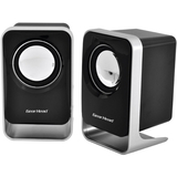 Gear Head SP1500USB 2.0 Speaker System - 3 W RMS - Black, Silver