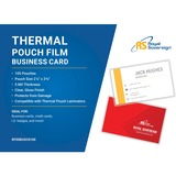 """Royal Sovereign Business Card Size (2 1/4"""" x 3 3/4"""")-5mil-100 Pack-Thermal Laminating Pouch Film"""
