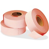 """Garvey Contact 22-77 Labelers 2-line Labels - 0.63"""" Width x 0.81"""" Length - 1000 / Roll - Rectangle - Fluorescent Red - Paper - 1 / Each"""