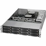 Supermicro SuperServer 6027R-E1R12N Barebone System - 2U Rack-mountable - Intel C602 Chipset - Socket R LGA-2011 - 2 x Processor Support - Black - 768 GB Maximum RAM Support - Serial ATA/600, 6Gb/s SAS RAID Supported Controller - Matrox G200 Graphics Inte