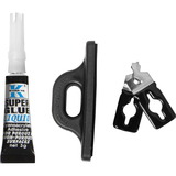 CSP Cable Lock Accessories - Scissor Clip and Glue-on Attachment