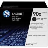 HP 90X Original Toner Cartridge - Dual Pack - Laser - 24000 Pages - Black - 2 / Box (CE390XD)