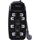 CyberPower CSP806T Professional 8-Outlets Surge Suppressor 6FT Cord and TE | SDC-Photo