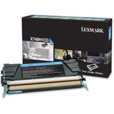 Lexmark Toner Cartridge - Laser - High Yield - 10000 Pages - Cyan - 1 Each (X748H1CG)