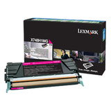 Lexmark Toner Cartridge - Laser - High Yield - 10000 Pages - Magenta - 1 / Pack (X748H1MG)