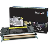 Lexmark Toner Cartridge - Laser - 10000 Pages - Yellow - 1 Each (X748H1YG)