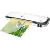 "CS1223 12"" photo/document laminator offers hot/cold laminating with 12"" entry"