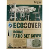 Backyard Basics Eco-Cover Round Patio Set Cover - Supports Round Patio Set - Fabric Material