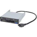 SIIG USB 3.0 Internal Bay Multi Card Reader - Secure Digital (SD) Card, Secure Digital High Capacity (SDHC), microSD (JU-MR0A11-S1)