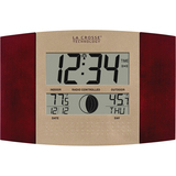 La Crosse Technology Atomic Digital Wall Clock with Moon & In/Out Temp - Digital - Atomic