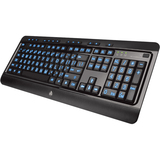 AziO Large Print 3 Color Backlit Keyboard - Cable Connectivity - USB Interface - 104 Key - Compatible with Computer - Email, Home, Favourites, Play/Pause, Previous Track, Next Track, Stop, Volume Up, Mute, Media Player, My Computer, ... Hot Key(s) -