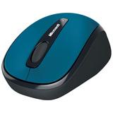 Microsoft Wireless Mobile Mouse 3500 - BlueTrack - Wireless - Radio Frequency - Cyan Blue - USB 2.0 - 1000 dpi - Scroll Wheel - 3 Button(s) - Symmetrical