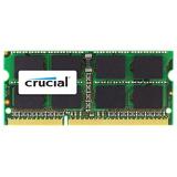 Crucial 4GB DDR3 SDRAM Memory Module - 4 GB (1 x 4 GB) - DDR3 SDRAM - 1333 MHz DDR3-1333/PC3-10600 - 1.35 V - Non-ECC - Unbuffered - 204-pin - SoDIMM