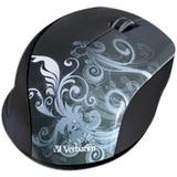Verbatim Wireless Notebook Optical Mouse, Design Series - Graphite - Optical - Wireless - Graphite