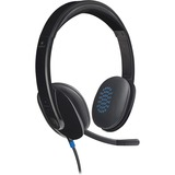 Logitech H540 USB Headset - Stereo - Black - USB - Wired - Over-the-head - Binaural - Semi-open (981-000510)