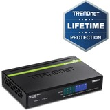TRENDnet 8-Port Gigabit GREENnet PoE+ Switch - 8 Network - Twisted Pair - 2 Layer Supported - Desktop - Lifetime Limi (TPE-TG44G)