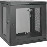 Tripp Lite 12U Wall Mount Rack Enclosure Server Cabinet w/ Door & Side Panels - 19IN 12U Wide Wall Mountable - Black (SRW12U)