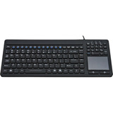 Solidtek Industrial Mini Keyboard with Touchpad on Right KB-IKB107 - USB - TouchPad (KB-IKB107)