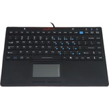 Solidtek Industrial Silicone Keyboard Mini with Touchpad KB-IN86KB - USB - TouchPad (KB-IN86KB)