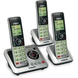 Vtech CS6629-3 Cordless Phone - DECT 6.0 - 1 x Phone Line - 2 x Handset - Answering Machine - Caller ID - Speakerphone - Backlight
