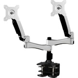 Amer Mounts Dual Articulating Monitor Arm. Supports two 15IN-26IN LCD/LED Flat Panel Screens - Supports up to 22lb mo (AMR2AC)
