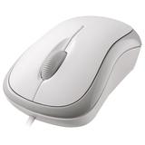 Microsoft Basic Optical Mouse - Optical - Cable - White - USB, PS/2 - 800 dpi - Scroll Wheel - 3 Button(s) - Symmetri (P58-00064)
