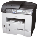 Ricoh Aficio SG 3100SNW GelSprinter Multifunction Printer - Color - Plain Paper Print - Desktop - Copier/Printer/Scan (U2T12E)