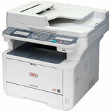 Oki MB491+ LED Multifunction Printer - Monochrome - Plain Paper Print - Desktop | SDC-Photo