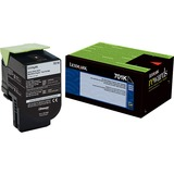 Lexmark Unison 701K Toner Cartridge - Laser - Standard Yield - 1000 Pages - Black - 1 Each (70C10K0)