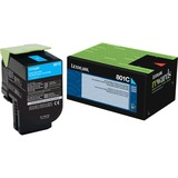 Lexmark Unison 801C Toner Cartridge - Laser - Standard Yield - 1000 Pages Cyan - Cyan - 1 Each (80C10C0)