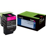 Lexmark Unison 701M Toner Cartridge - Laser - Standard Yield - 1000 Pages - Magenta - 1 Each (70C10M0)